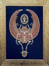 Набор для вышивки бисером на габардине Священный скарабей Миледи НЮ-067