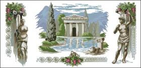 Схема вышивки бисером на габардине Триптих Греция Эдельвейс ТС-05 - 150.00грн.