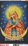 Схема вышивки бисером на габардине Остробрамська Ікона Божої Матері