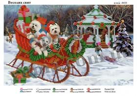 Схема для вышивания бисером Весёлых праздников, , 40.00грн., ЮМА-4433, Юма, Новый год