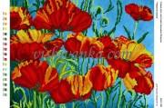 Рисунок на габардине для вышивки бисером Червона краса