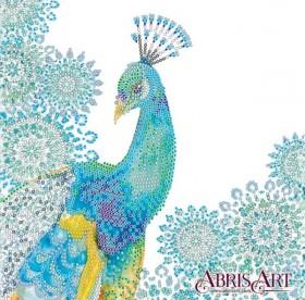 Схема вышивки бисером на холсте Узоры лазури, , 53.00грн., АС-558, Абрис Арт, Коты, бабочки, волки и птицы