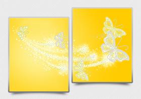 Схема для вышивки бисером на атласе Ажурные бабочки (жёлтый) Диптих А-строчка АРЗ-013 - 182.00грн.