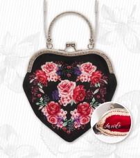 Косметичка для вышивки крестом Цветы Luca-S BAG020
