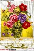 Схема вышивки бисером на габардине Квіти