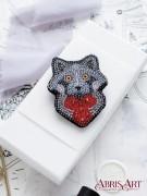 Набор для вышивки бисером украшения Крошка-енот