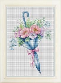 Набор для вышивки нитками Цветочный зонтик