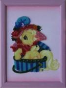 Рисунок на атласе для вышивки бисером Пони