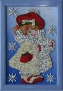 Схема для вышивки бисером на атласе Девочка