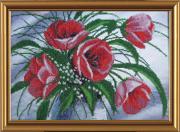Набор для вышивки бисером Весенний букет