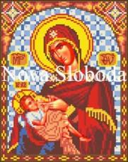 Схема для вышивки бисером на габардине Богородица Млекопитательница Новая Слобода (Нова слобода) bis9039