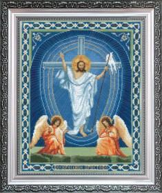 Набор для вышивки крестом Воскрешение Христово, , 276.00грн., А100, Чарiвна мить (Чаривна мить), Иконы