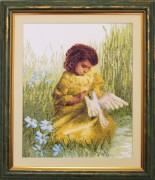 Девочка с голубем