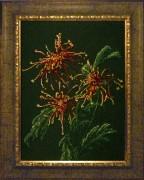 Набор для вышивки бисером Хризантемы в саду