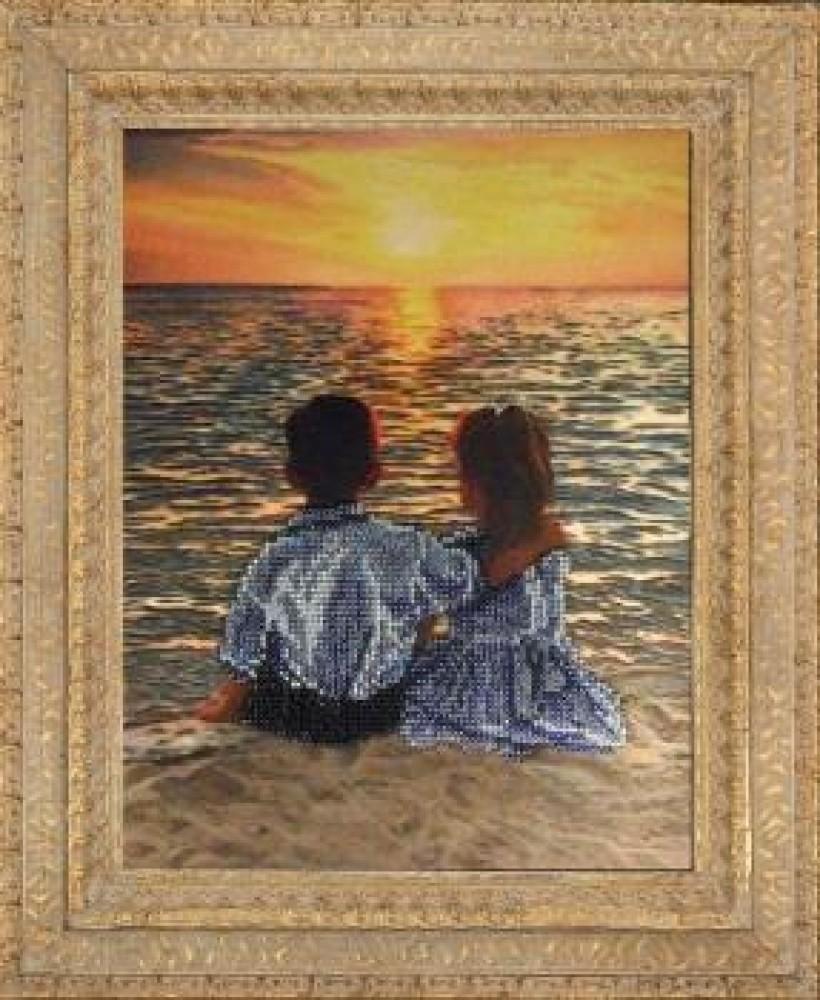 Картина свидание вышивка