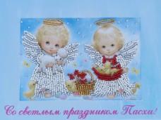 Набор для вышивки открытки Ангелочки