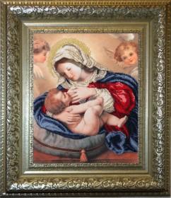 Набор для вышивки бисером Кормящая Мадонна, , 508.00грн., 30211, Краса и творчiсть, Большие иконы