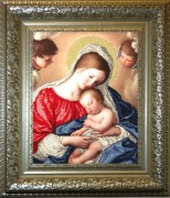 Набор для вышивки бисером Мадонна с младенцем