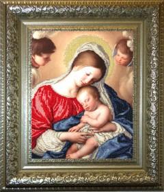 Набор для вышивки бисером Мадонна с младенцем, , 508.00грн., 71210, Краса и творчiсть, Большие иконы