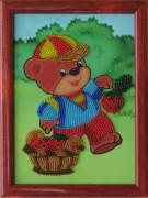 Схемы для вышивания бисером на атласе Медвежонок