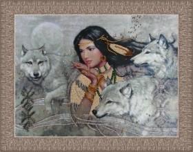 Набор для вышивки бисером Танец с волками
