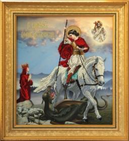Набор для вышивки бисером Георгий Победоносец, , 613.00грн., 90911, Краса и творчiсть, Большие иконы
