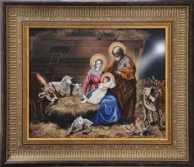 Набор для вышивки бисером Рождество Христово, , 598.00грн., 80911, Краса и творчiсть, Большие иконы