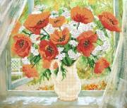 Рисунок на ткани для вышивки бисером Летнее утро