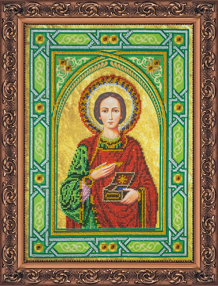 Вышивка бисером святого пантелеймона