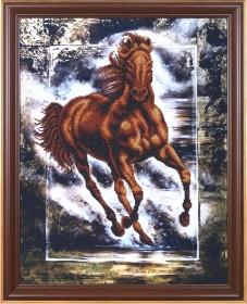 Набор для вышивки бисером Победный конь, , 513.00грн., Б-053МК, Магия канвы, Схемы и наборы для вышивки бисером по Фен шуй