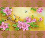 Схема для вышвики бисером на холсте Весеннее цветение