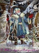 Набор для вышивки открытки Дед Мороз