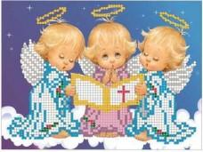 Схема для вышивки бисером на габардине  Песня ангелочков Княгиня Ольга СД-018