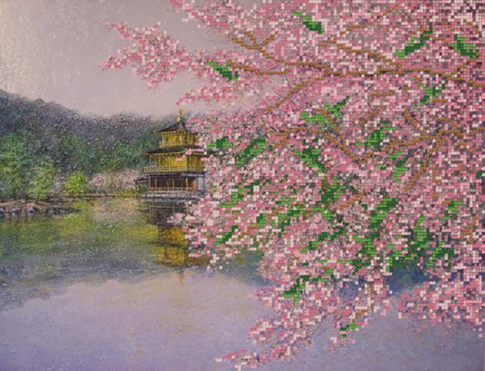 Вышивка крестом сакура цветет