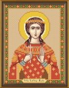 Рисунок на ткани для вышивки бисером Святая Марина Антиохийская
