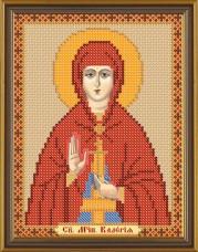 Рисунок на ткани для вышивки бисером Святая Карелия (Валерия) Новая Слобода (Нова слобода) БИС5109