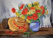 Рисунок на ткани для вышивки бисером  Деревенский натюрморт