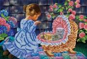 Рисунок на ткани для вышивки бисером  Дочки-матери