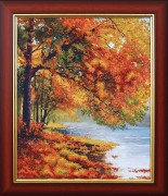 Набор для вышивки бисером Осенний берег