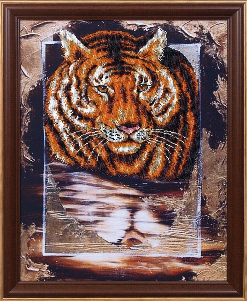 Оформление вышивок тигров