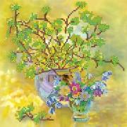 Рисунок для вышивки бисером Весенний букет
