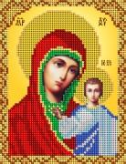Рисунок на ткани для вышивки бисером Казанская икона Божией Матери
