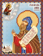 Рисунок на атласе для вышивки бисером Святой Князь Даниил Московский