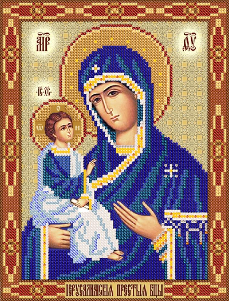 Вышивка бисером иерусалимская икона