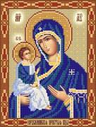 Рисунок на ткани для вышивки бисером Иерусалимская икона Божией Матери