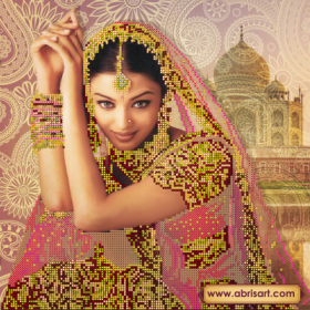 Рисунок на холсте для вышивки бисером Цветок Индии Абрис Арт АС-142 - 102.00грн.