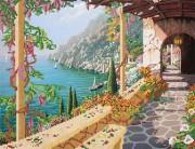 Рисунок на ткани для вышивки бисером Вилла на Капри