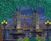 Рисунок на ткани для вышивки бисером Огни большого города