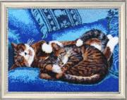 Набор для вышивки бисером Спящие котята