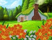 Рисунок на ткани для вышивки бисером Оранжевое лето